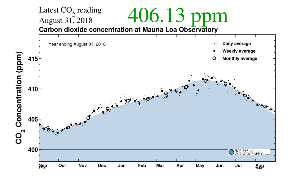One-year Keeling Curve